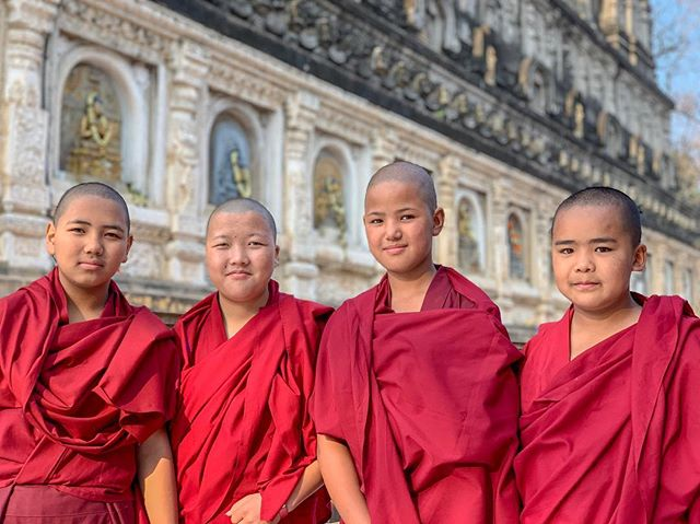 Young beautiful Buddhist nuns.📿 . . . . . #beauty #beautiful #beautifulgirls #nuns #buddha #buddhalove #buddhism #buddhist #buddhistnuns #pilgrimage #sangha #dhamma #dharma #mindfulnessteacher #bodhgaya #bodhgayaindia #bihar #vegan #veganswhotravel #vegansofinstagram #streetphotography #mahabodhi #mahabodhitemple #india #indialove #natgeoindia #travelindia #thisisindia #incredibleindia🇮🇳