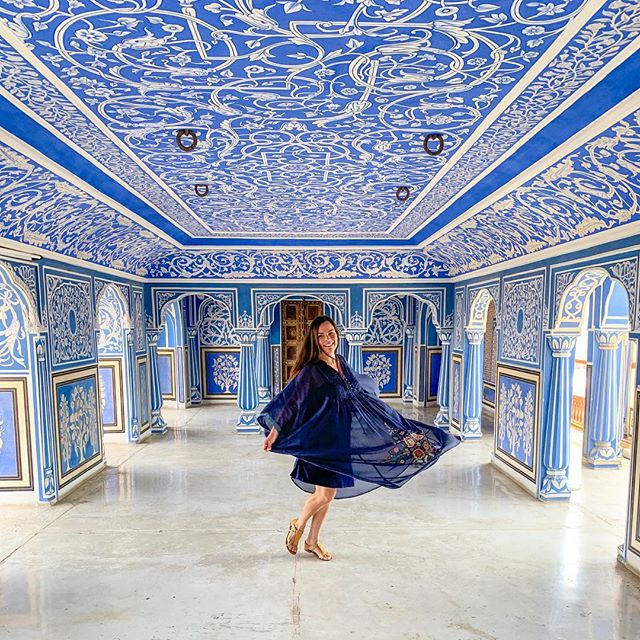 """Study me as much as you like, you will not know me, for I differ in a hundred ways from what you see me to be. Put yourself behind my eyes and see me as I see myself, for I have chosen to dwell in a place you cannot see."" —Rumi . . . . #bliss #happiness #twirling #jaipur #citypalacejaipur #jaipurpalaces #jaipurdiaries #pinkcity #rajasthan #rajasthandiaries #travel #travelindia #vegan #veganswhotravel #travelcommunity #blue #bluedress #blueroom #ritukumar #sunday #sundayfunday #indiapictures #thisisindia #india #indialove #incredibleindia🇮🇳 #rumi #rumiquotes #rumipoetry"