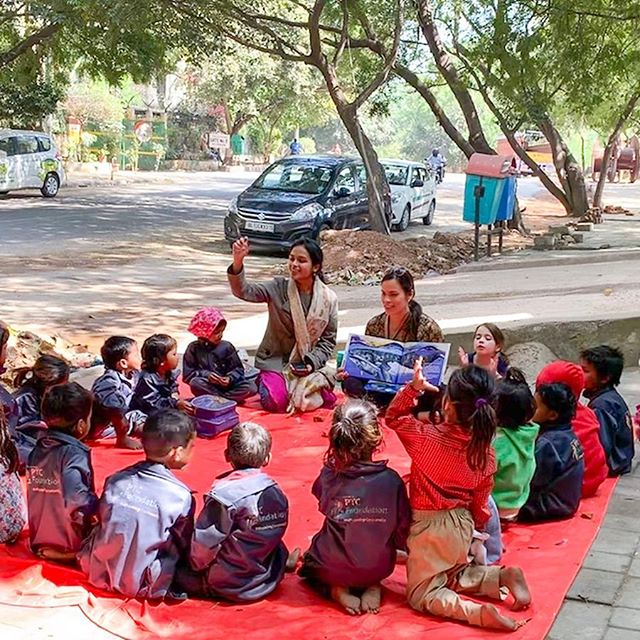 "🇮🇳 My special time in India has come to and end. I want my last post from here to be about the joy I felt and the blessing it was to meet wonderful people, children, and even animals. All beautiful beings worthy of receiving all the love and care in the world. . The kids in these photographs come to this school on the pavement, every day. They are provided basic education and are fed by volunteers, and teachers while their parents work. . India is the birthplace of mindfulness, and I thought I wanted to give back in any way I could with my little book to a practice that has giving me so much. But I ended up receiving more than what I gave. . It was lovely to make this trip in an era of social media, where I could share bits and pieces of my journey. As you can imagine, not all the posts in the world could do justice to what I saw and experienced with my eyes, especially with the eyes of the heart. The warm smiles, the vows of reverence, the touch of the hand, the acts of generosity. Humanity at its best. I saw the suffering, too. I didn't look away. I really saw it. I felt it in every cell of my body. This is one of the reasons I choose to travel, to learn, to stay inspired, and to be reminded of what really matters in my life, my purpose: to be of service to others. . We can all make a difference in the world, and when we do things with immense love, even one small drop can create endless ripples. . My heart is full knowing that ""The Magical Mindful Day"" is now part of these schools: Tibetan Children's Village, Sunaayy Foundation, Alice Project, Buddha's Smile School, The Prajna Vihara, A Bowl of Compassion, Jaipur Princess Diya Kumari Foundation; and in these cities in India: Delhi, Rishikesh, Dharamshala, Dinanagar, Kalkota, Sarnath, Bodh Gaya, and Jaipur. . May this be of benefit to all living beings. For more information about this organization go  www.sunaayyfoundation.org/ . #humanity #abettertomorrow #magicalmindfulday #mindfulness #mindfulnessforkids #kids #mindfulnessteacher #bethechange #makeadifference  #childrensbooks #green #conservation #environment #activism #ecowarrior #community #savetheplanet #authorsofinstagram #love #kindness #compassion"
