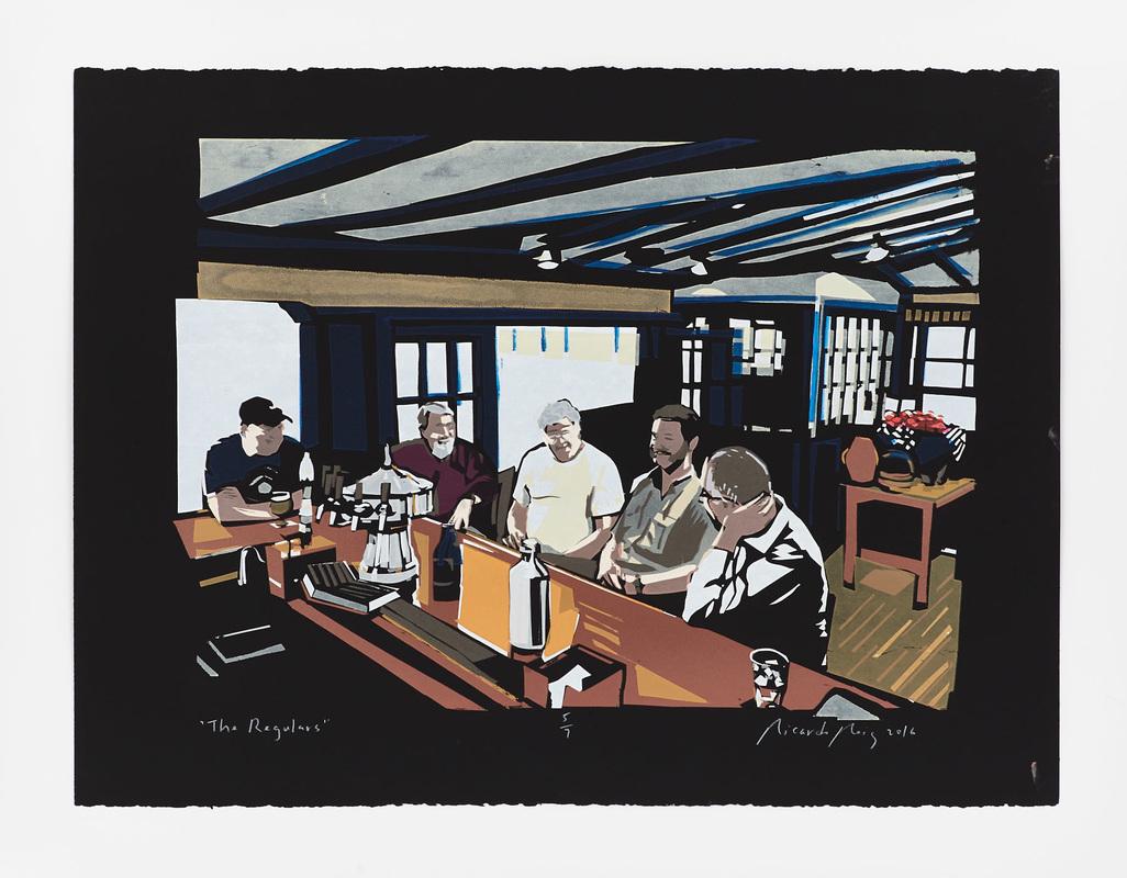 Trap Rock Restaurant in New Jersey portrait commissioned by Hoboken artist Ricardo Roig.