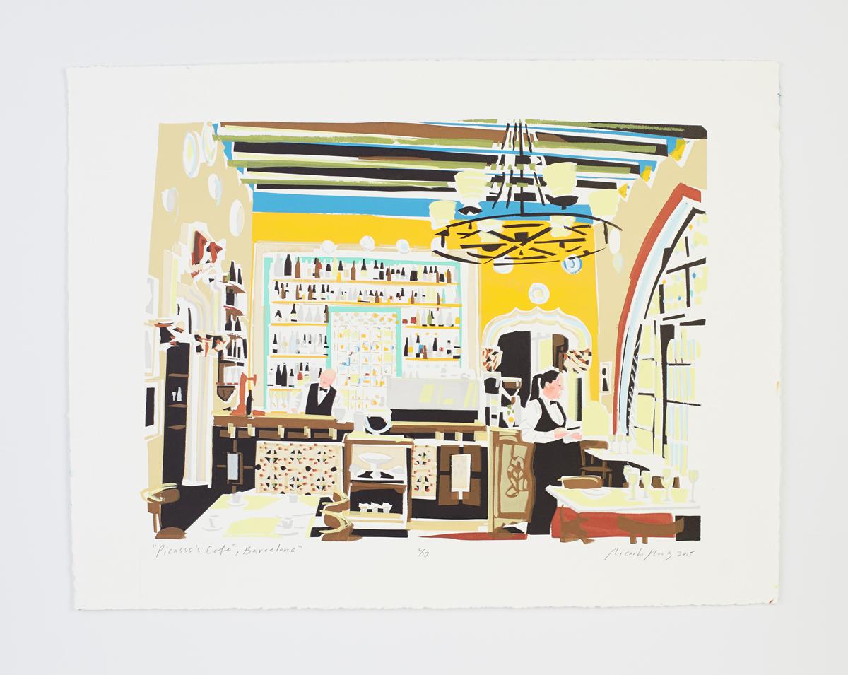 """Picasso's Cafe, Barcelona"" 2015"