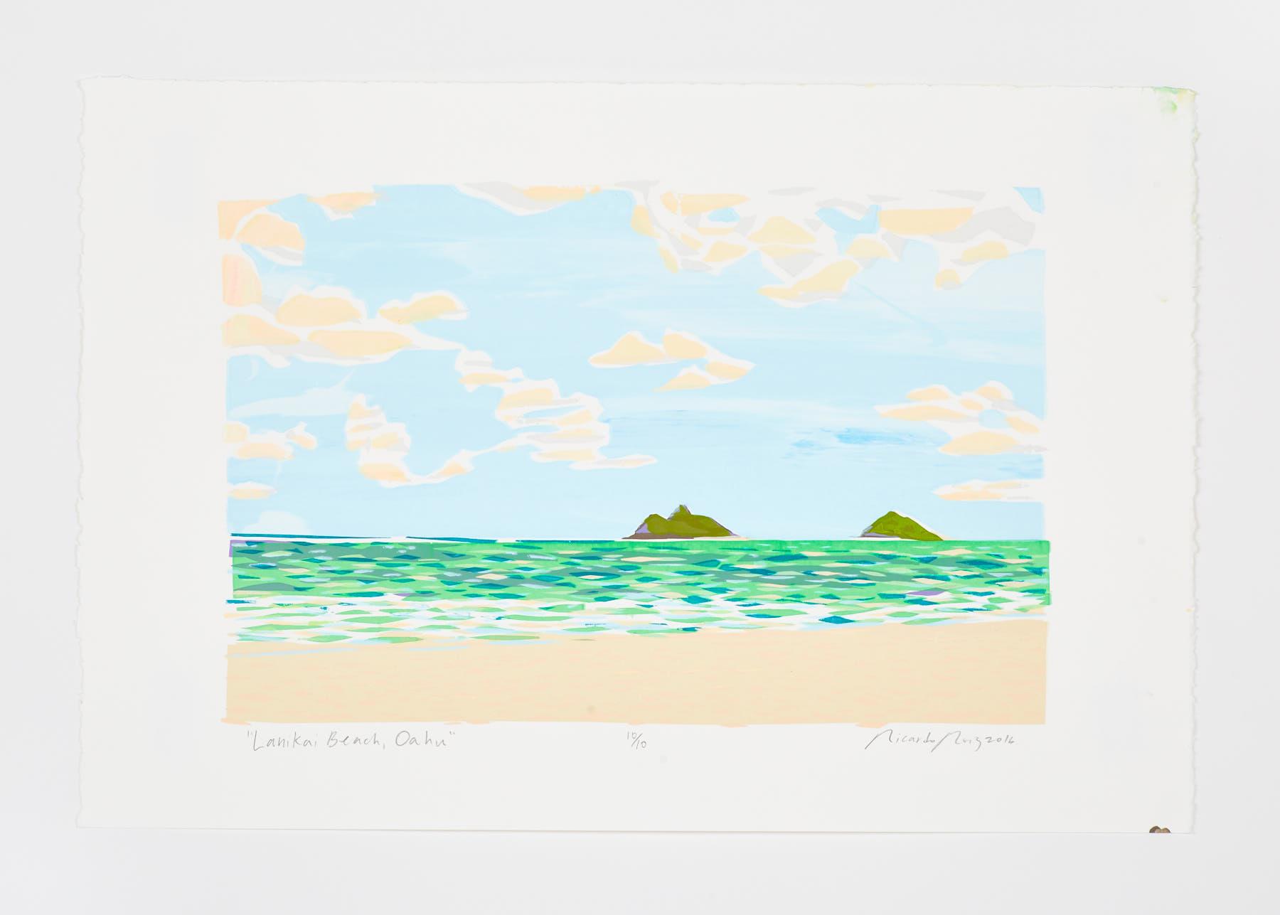 """""""Lanikai Beach Oahu"""" 2016"""