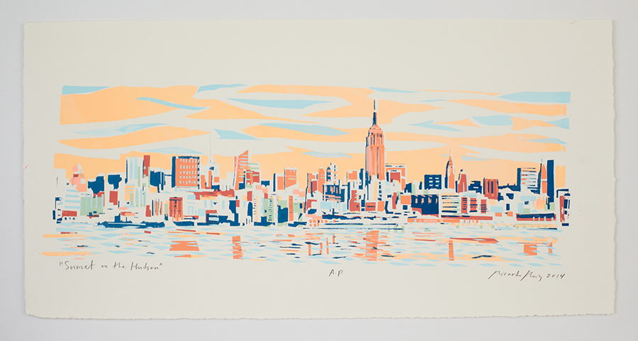 """Sunset on the Hudson"" 2014"
