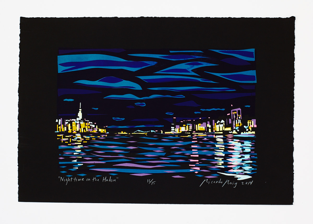 """Nighttime on the Hudson"" 2014"