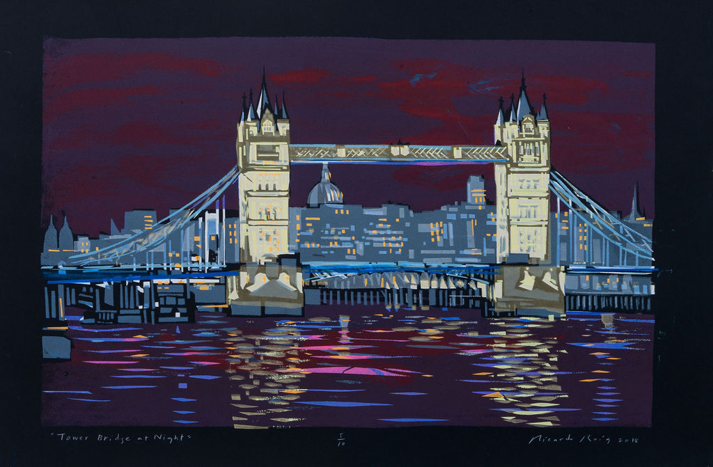 """Tower Bridge at Night"" 2018"