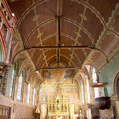 Bruges, Philip le Bon church ceiling