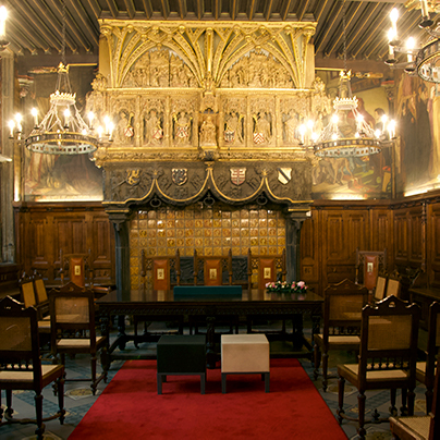 Kortrijk city hall inside