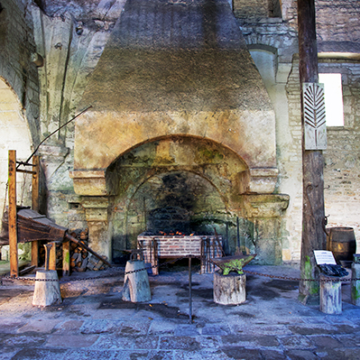 Fontenay forge hearth