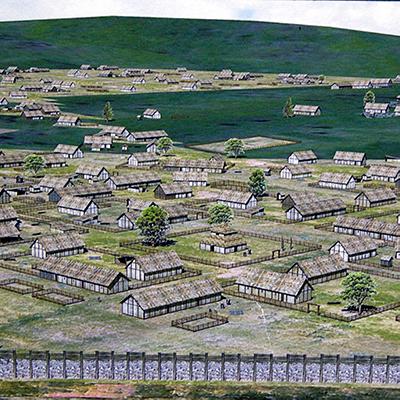 Donnersberg village sketch