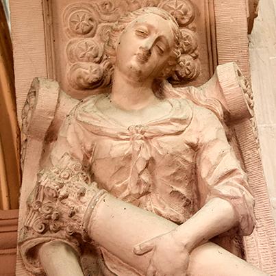 Prüm Abbey statue