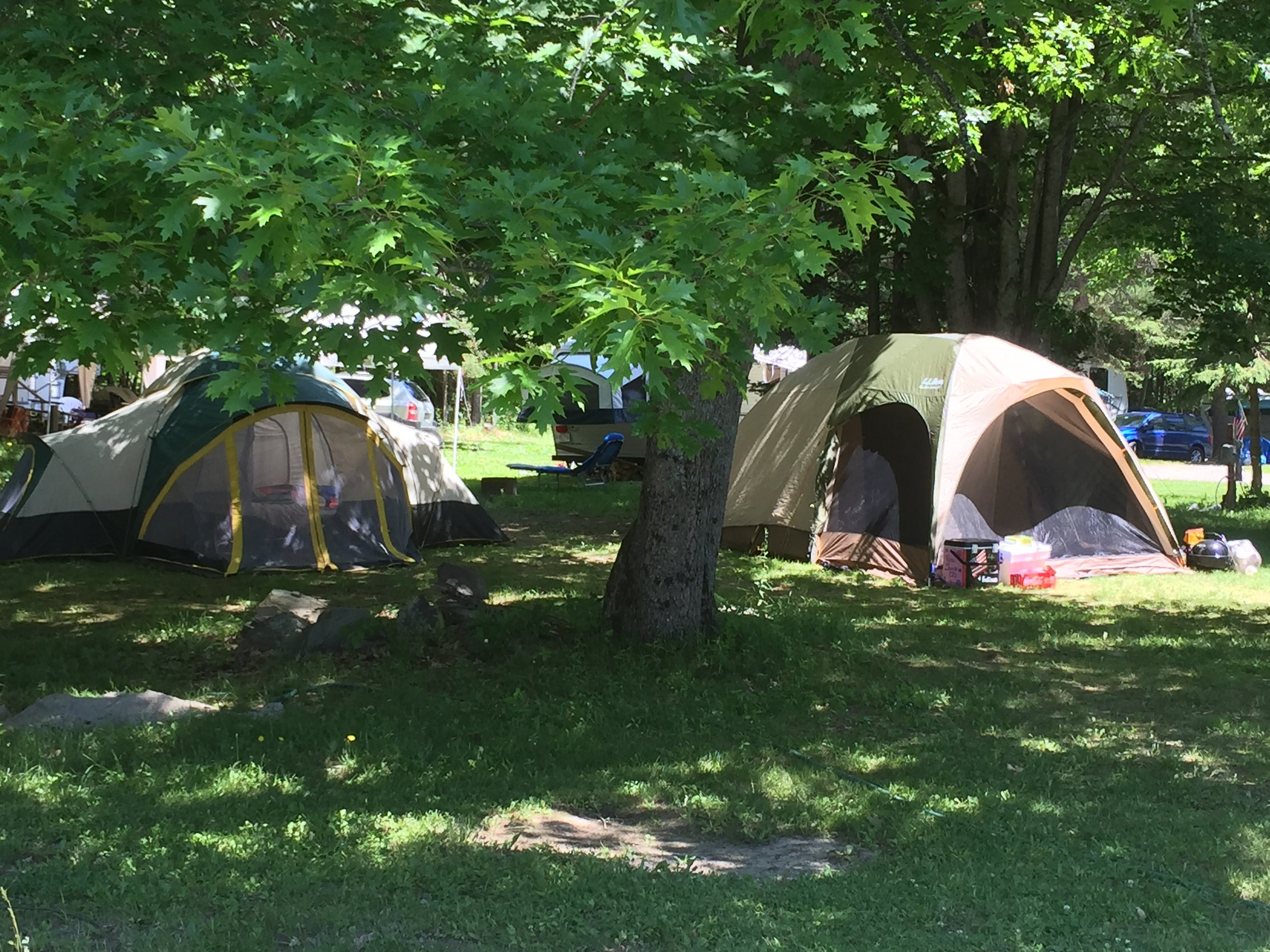 Amenity Rich! - Full hookup sites, tent sites, & cabins. We have a large pool, free Wi-Fi & Satellite TV at sites, a game room, on-site Propane filling station, laundry room, playground, entertainment, big top tent for events and much more!