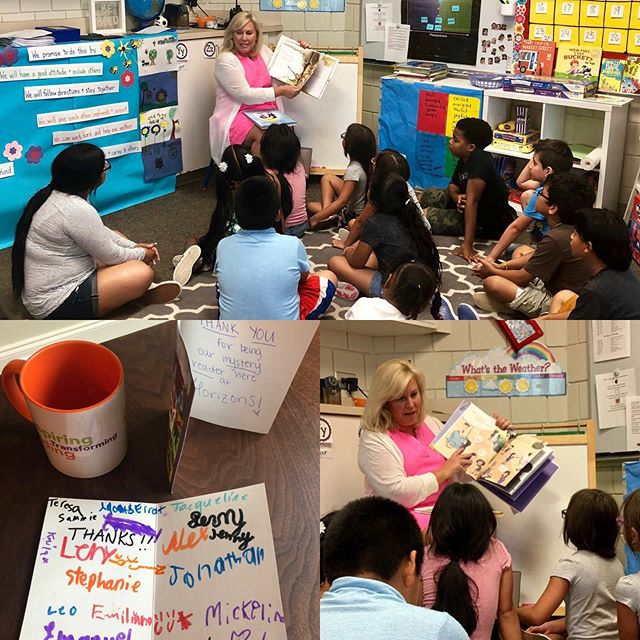 Best day EVER!  Loved being a Mystery Reader today for the second graders at Horizons Atlanta at HIES!  We read a book about ways to be kind, another about the day the crayons quit (hilarious!) and one about overcoming our fears and how great life can be when we take a chance.  They were so insightful in our discussions and their sweet hugs filled my heart with joy!  Thank you Kate for the invite and to the kiddos and teachers for a great day!