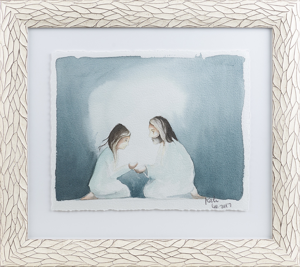 """ Through His Light.  Is my story. Learning that through Christ I could overcome the heavy insecurities I carried and that he could help me find my light didn't come easy, but it was a fight worth fighting.""  (@Kate_Lee_Art)"