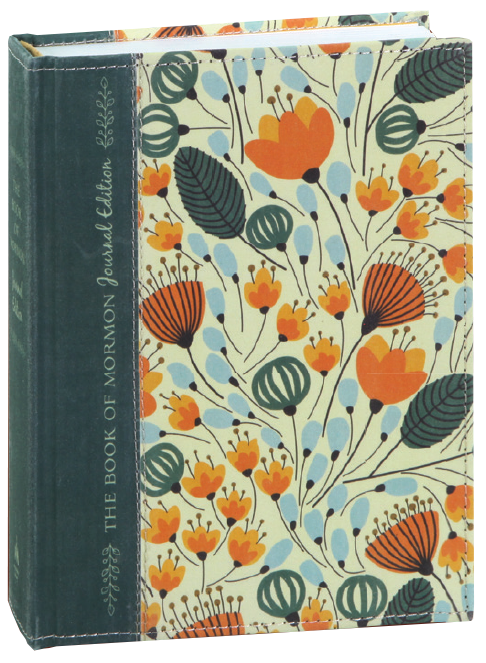 The Book of Mormon, Journal Edition, Orange Floral