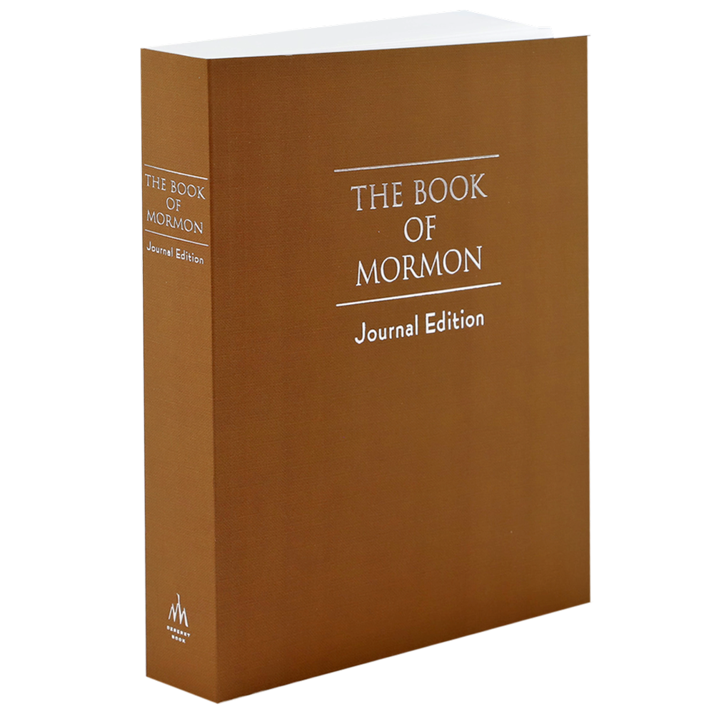 The Book of Mormon, Journal Edition, Brown (No Index)