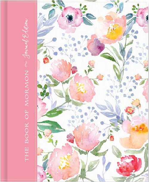 The Book of Mormon, Journal Edition, Pink Floral (No Index)