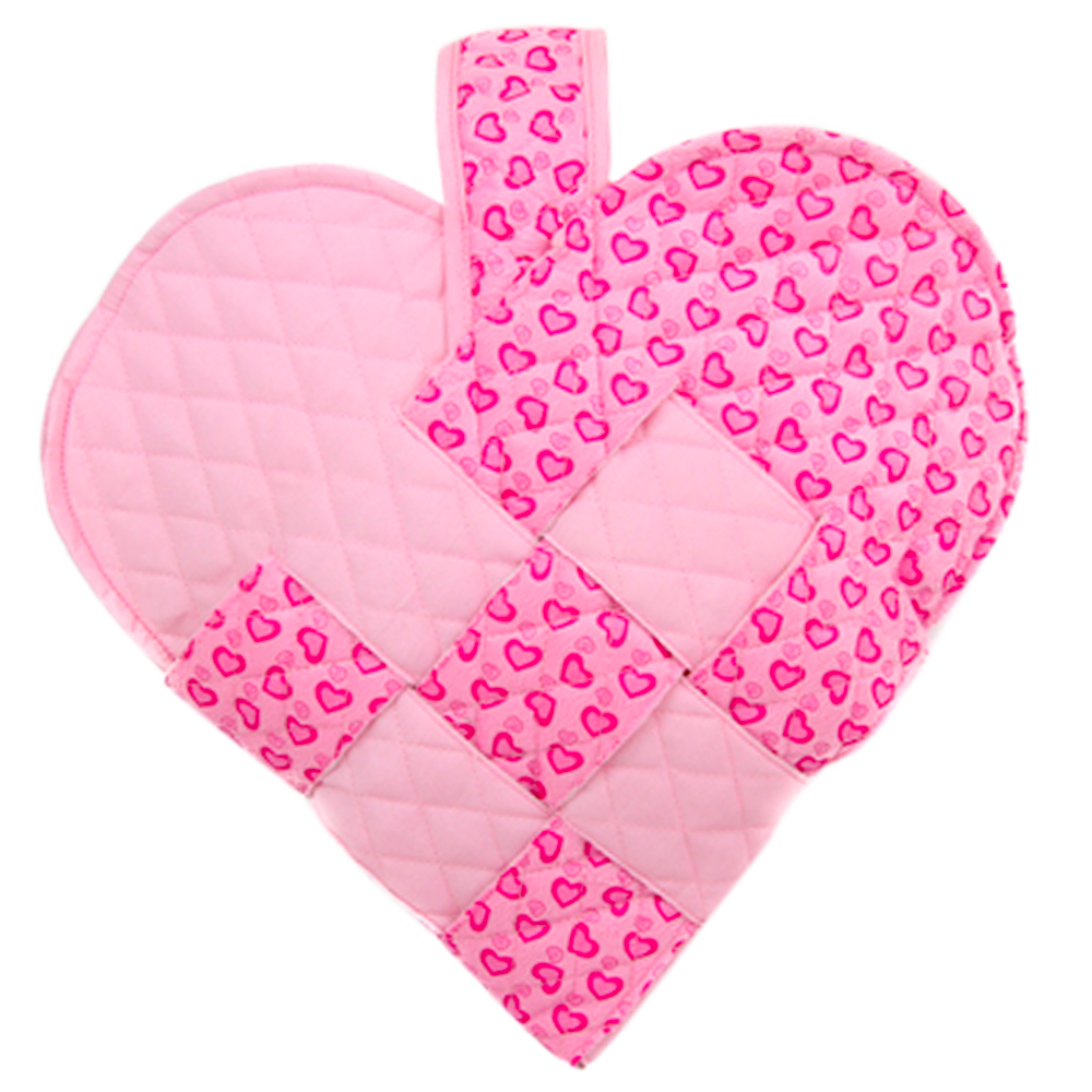 Pink Hearts Heart Stocking