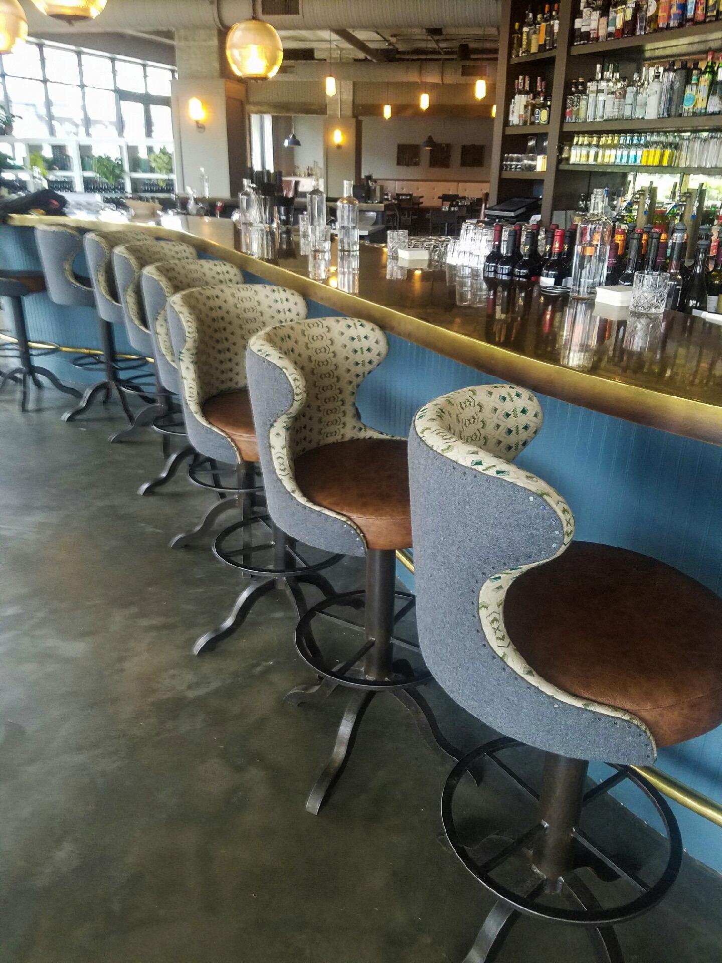After Custom Restaurant Barstools