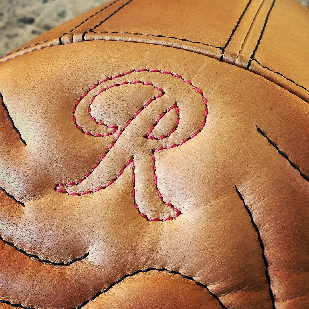 Leather Topography Map Motorcycle Seat