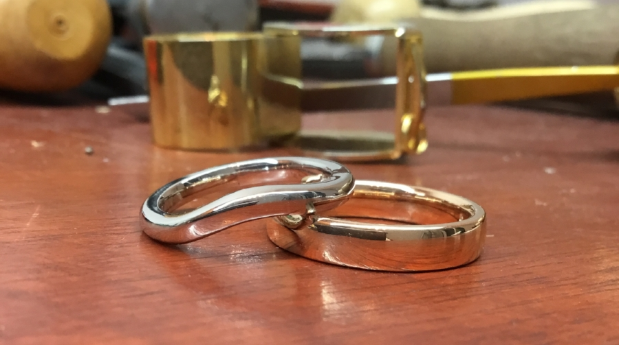 Wedding rings made from Fairmined gold
