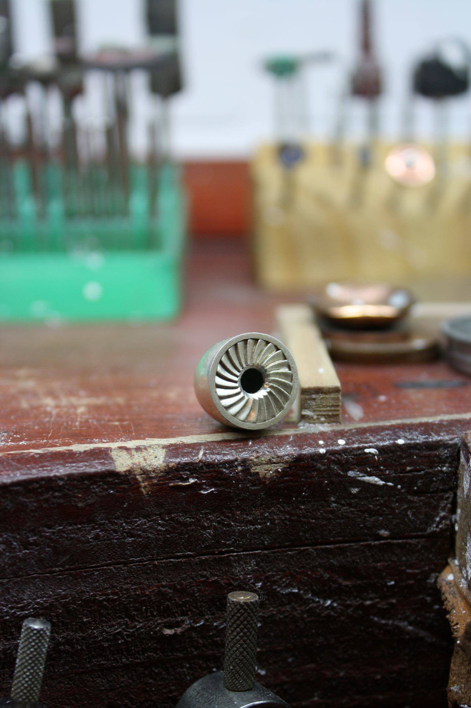 Turbine cufflink production.JPG