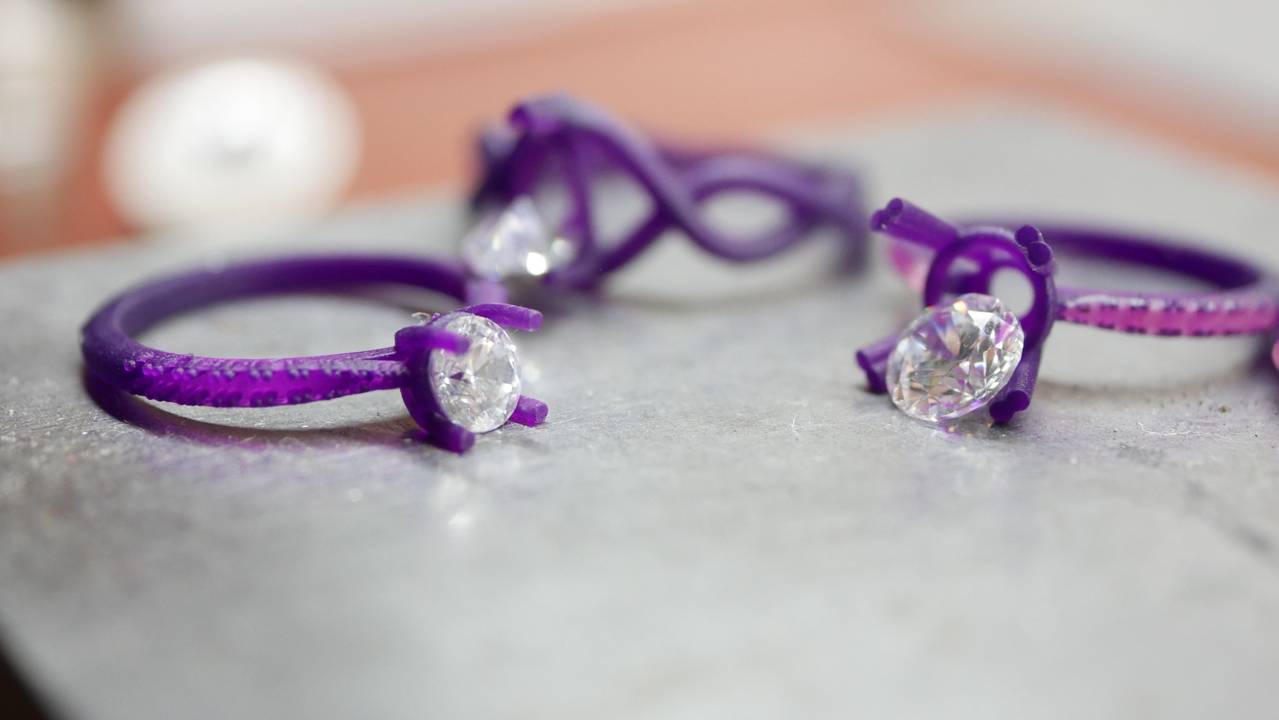 3D printed rings checking stone sizes.JPG