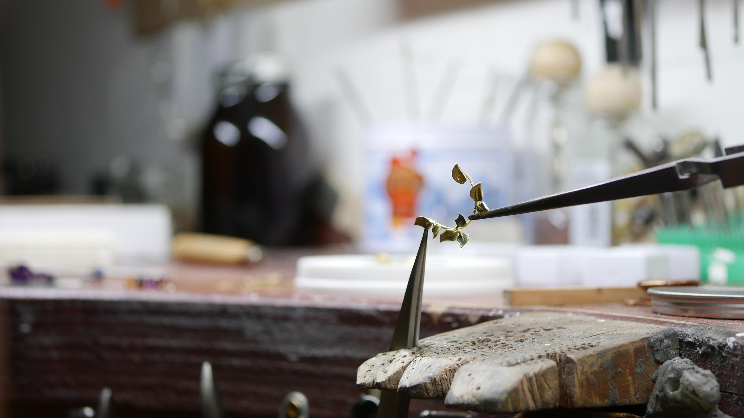 Handmade jewellery in the workshop.JPG