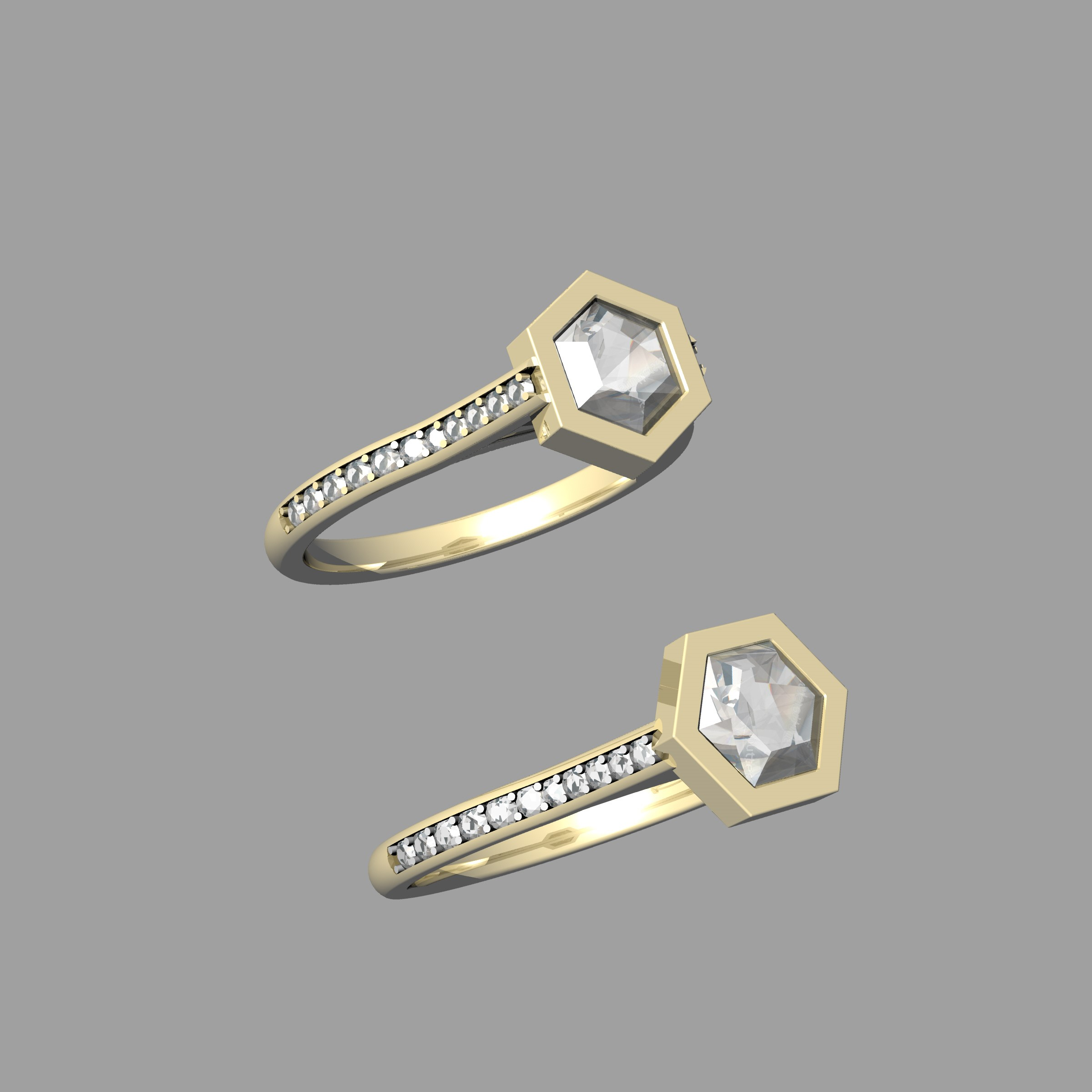 3d design of yellow gold hexagon single stone ring.jpg