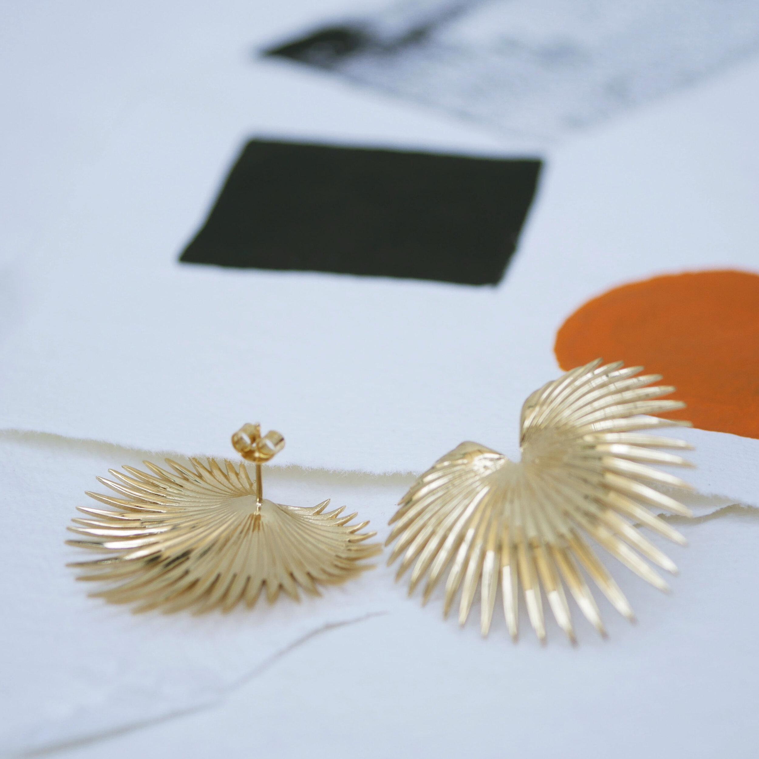 Fan palm earrings for peirced ears.jpg
