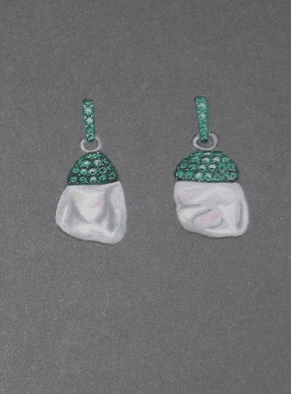 Tsavorite and pearl earring illustration.JPG
