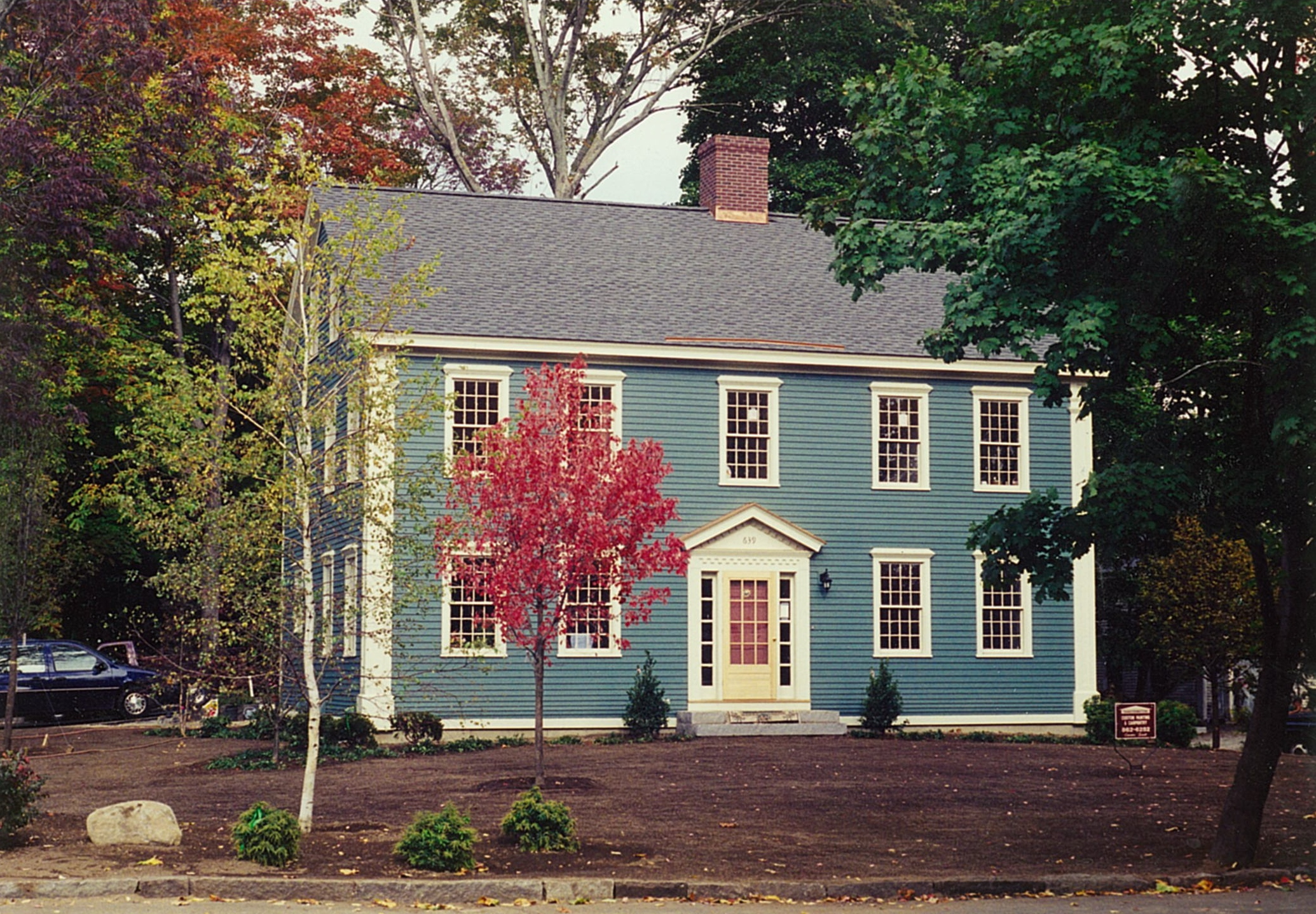 A home lived in and built by Carter Scott. Lexington, MA.
