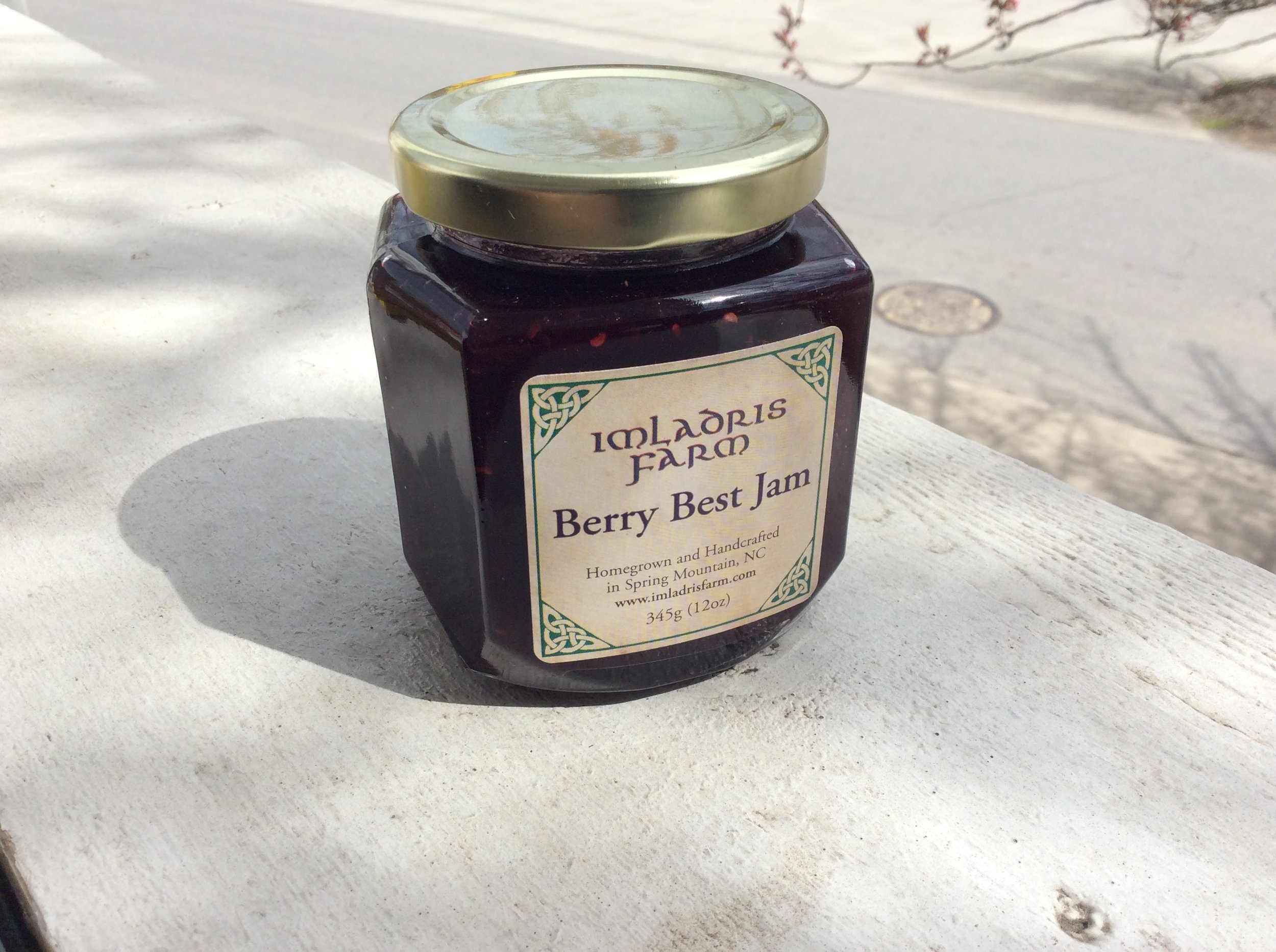 Berry Best Jam - Local jam from Imladris Farm - the best there is! Take a jar home for $7.50