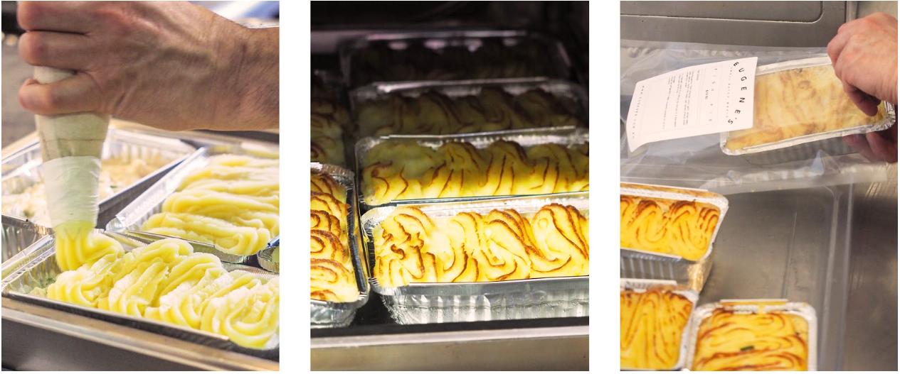 Eugenes Signature Fish Pie in the Oven