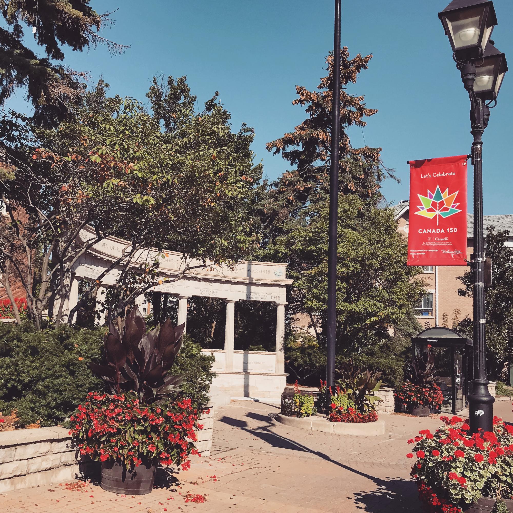 Toronto Branding Design Consultancy agency – Canada 150 Official Branding – Street Banner Design in downtown Richmond Hill, Ontario