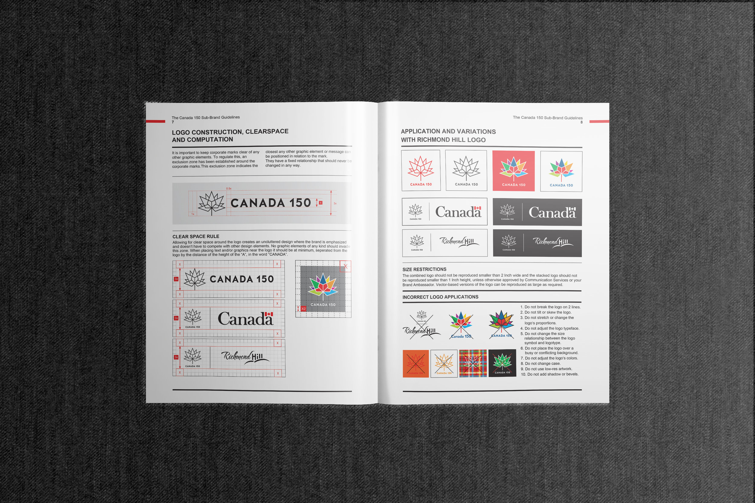 Canada 150 Official Branding Page two