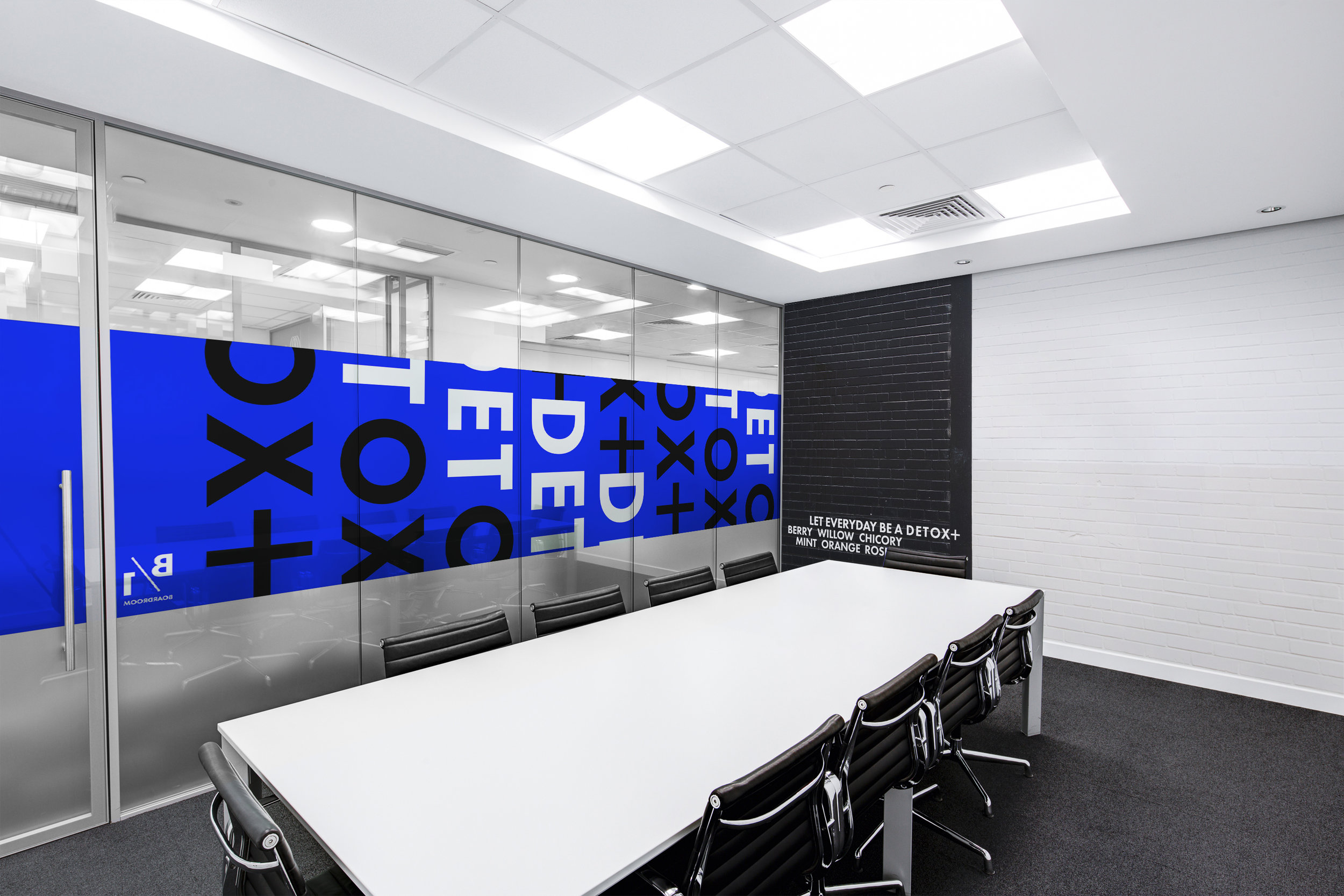 Detox Plus Packaging – Environmental design office interior
