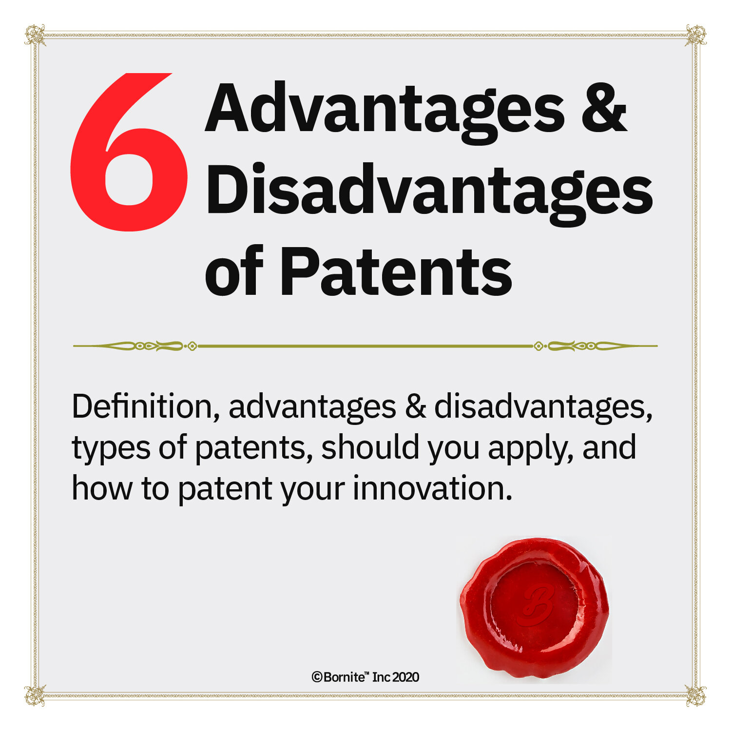 6 Advantages and Disadvantages of Patents