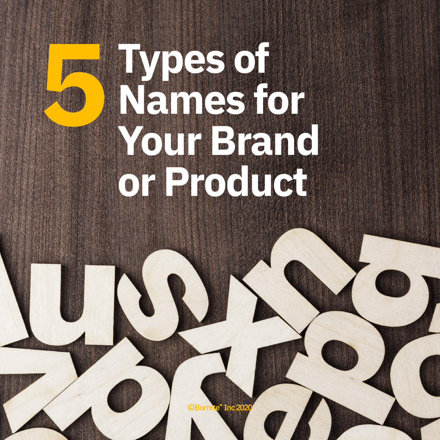 5 Types of Names for your Brand or Product