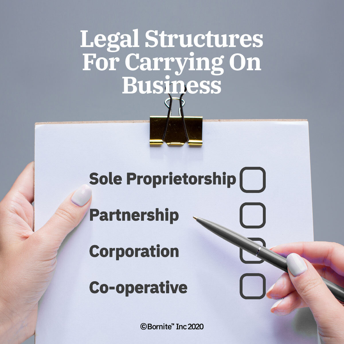 Legal Structures For Carrying On Business