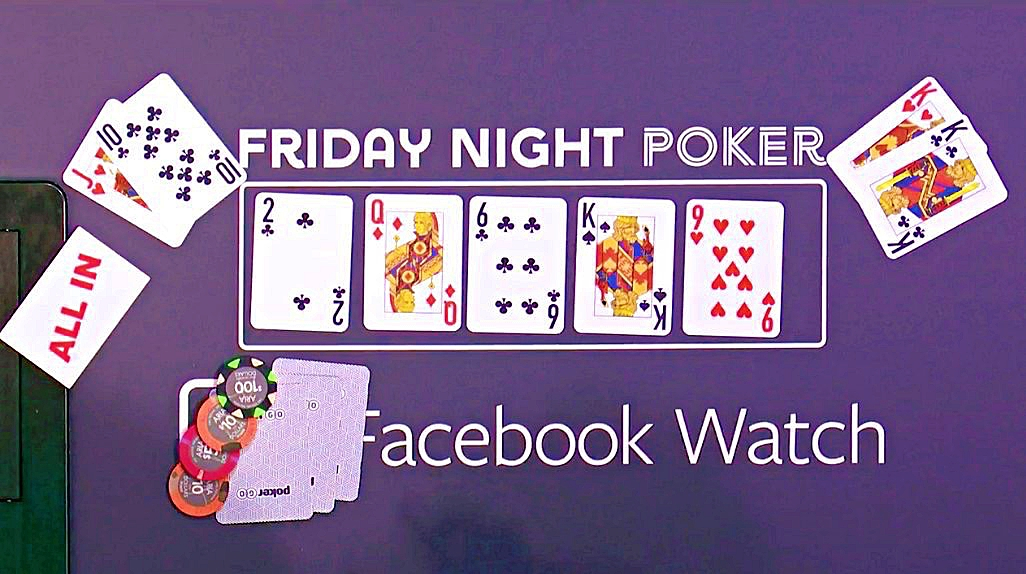 Pre-flop all-in on Friday Night Poker with Matt Berkey & David Williams & Faded Spade cards.