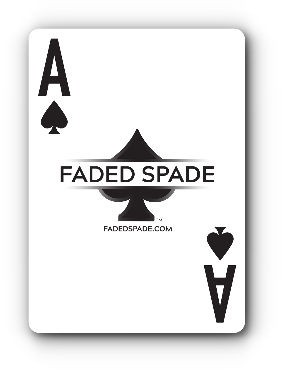Faded Spade Playing Cards | 100% Plastic Poker Playing Cards
