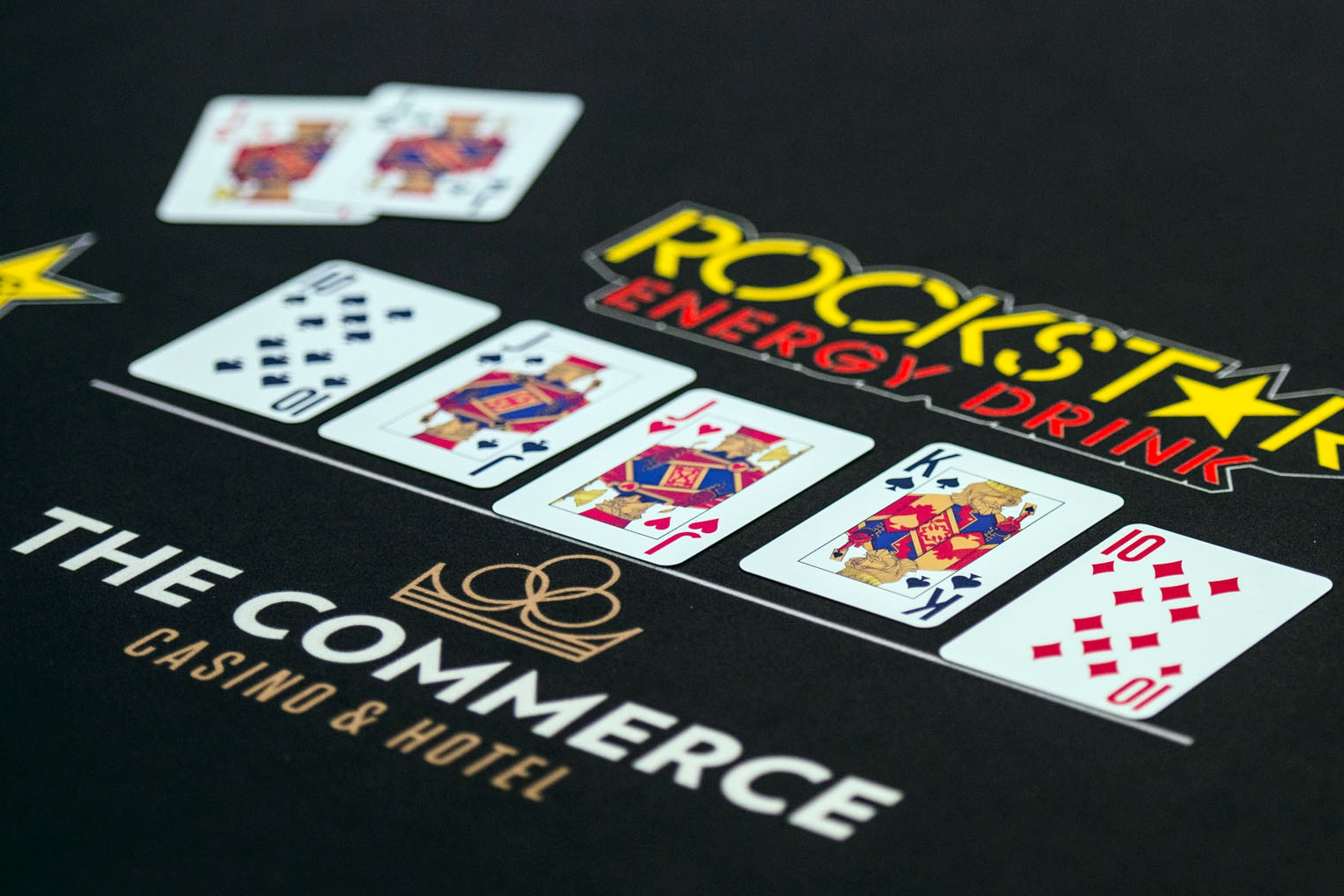 Faded Spade poker playing cards at Commerce Casino