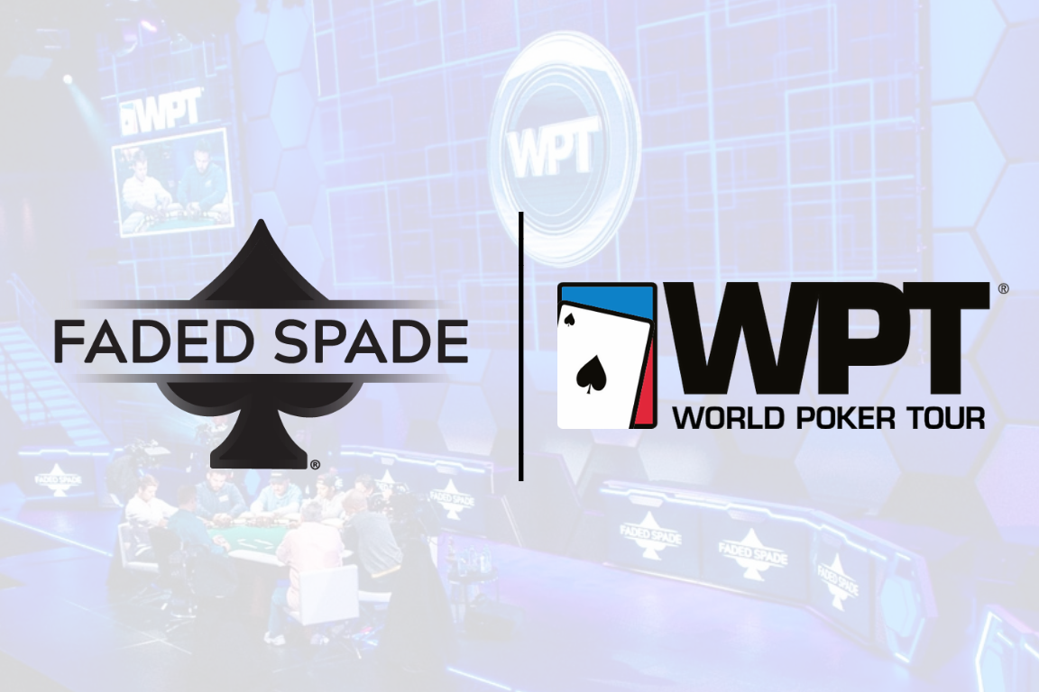 Faded Spade poker playing cards partnership with world poker tour as the preferred poker playing cards of the wpt fadedspade