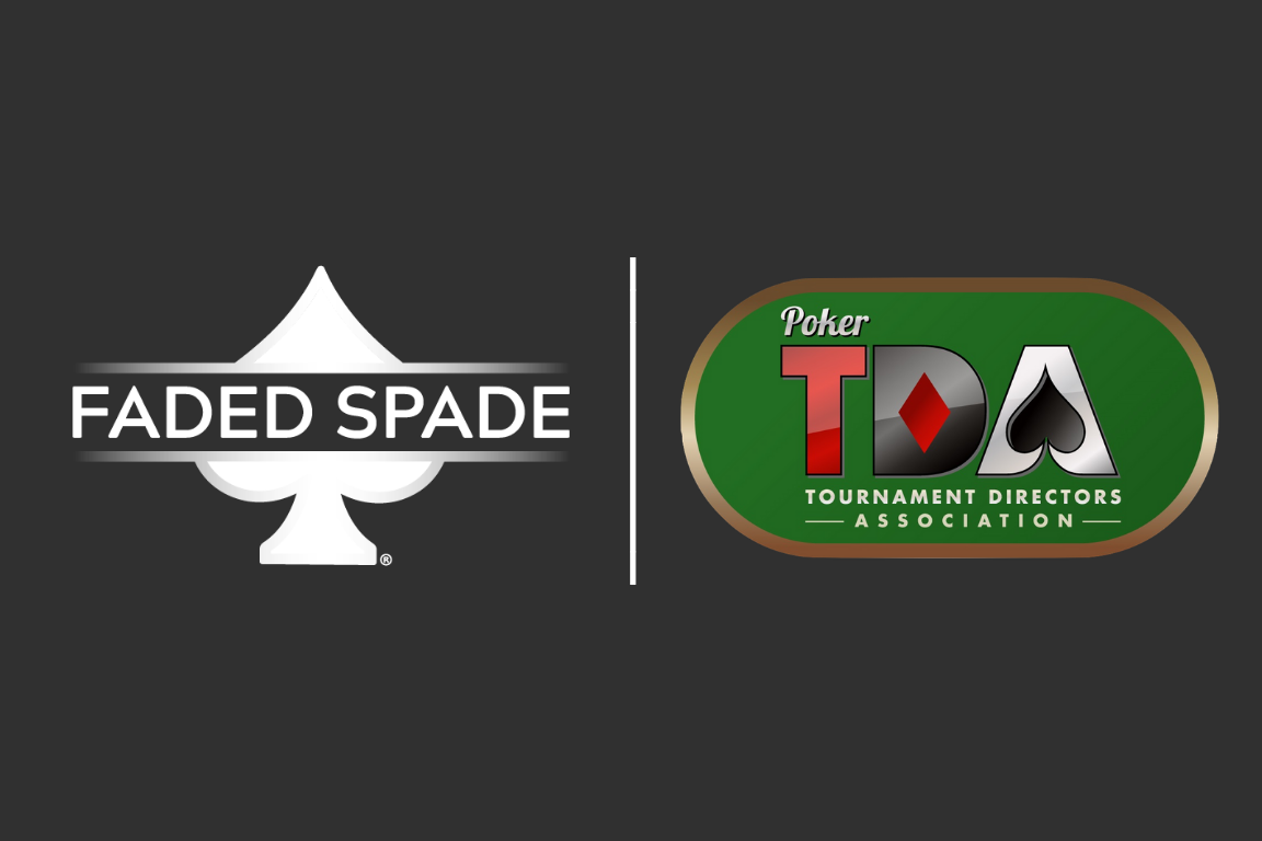 faded spade poker playing cards sponsor the poker tournament directors association