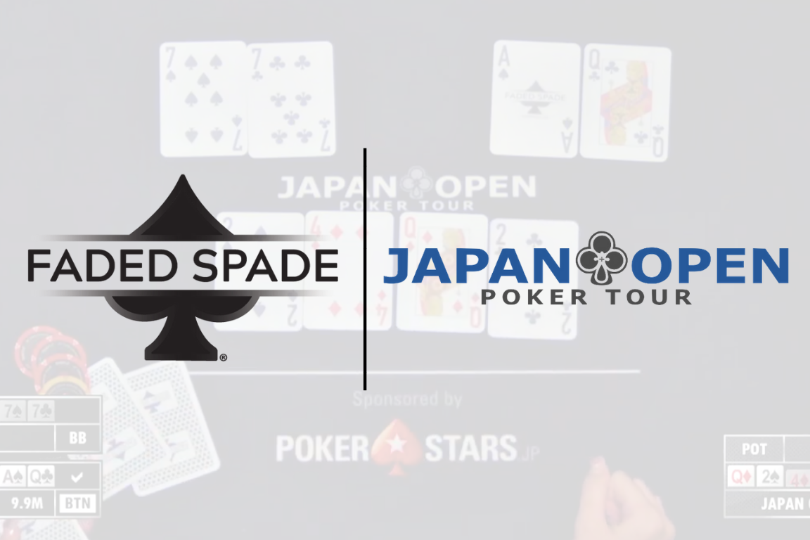 faded spade poker playing cards and japan open poker tour