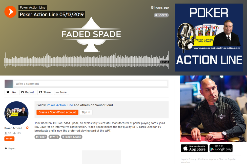 Faded Spade poker playing cards founder and ceo Tom Wheaton on Poker Action Line Radio