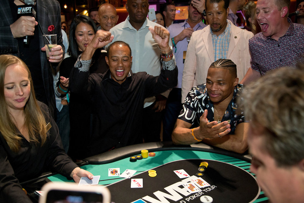 Tiger Woods and Russell Westbrook Faded Spade Poker Playing Cards