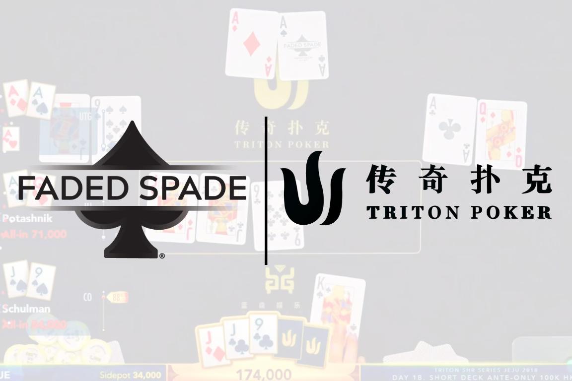 faded spade triton poker playing cards triton millions