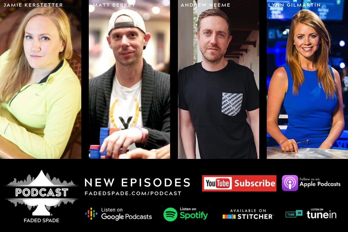 Jamie Kerstetter, Matt Berkey, Andrew Neeme, Lynn Gilmartin Faded Spade Poker Playing Cards Podcast Tom Wheaton Sean McCormack