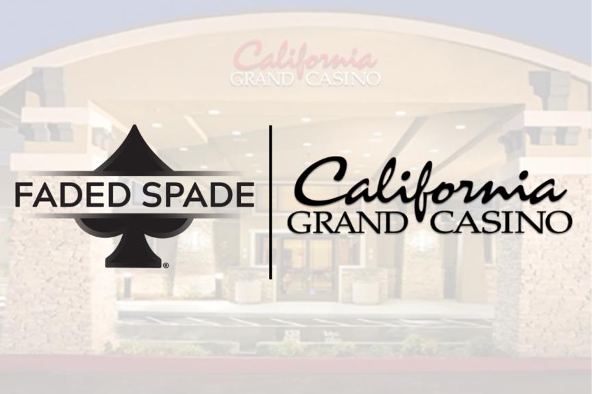 faded spade 100% plastic poker room playing cards california grand casino